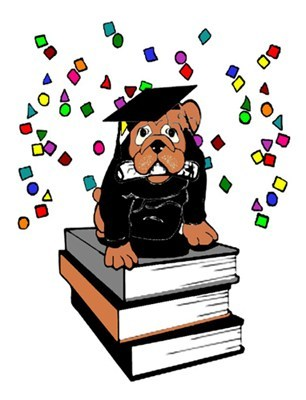 Bulldog Graduation Card ~ Cards with a Special Touch.