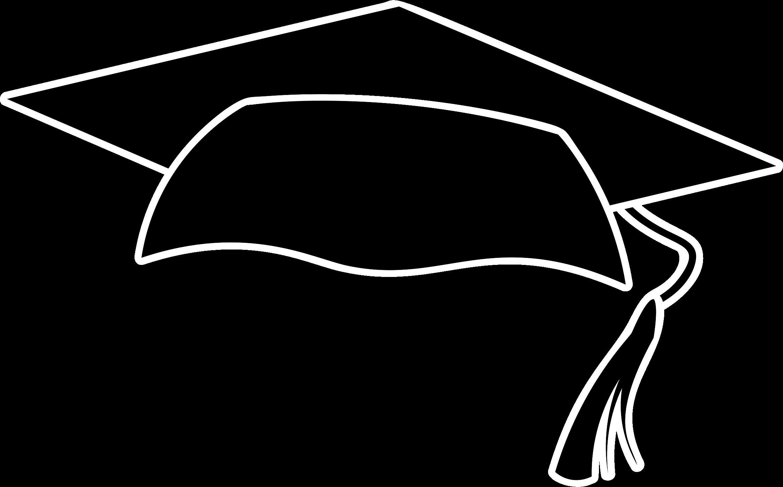 Graduation Cap PNG Black And White Transparent Graduation.