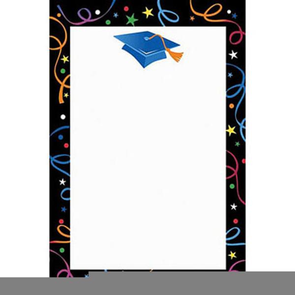 Graduation Cap Border Clipart.