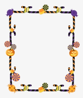 Free Halloween Border Clip Art with No Background.