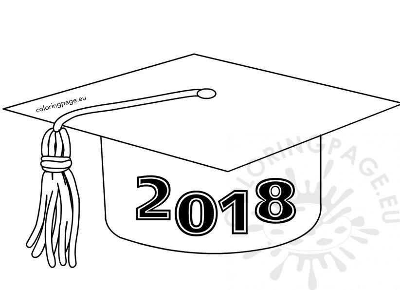 Class of 2018 Graduation Cap template.