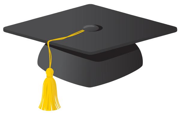 Graduation 2015 Hats Clipart.