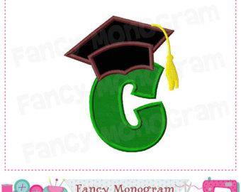 graduation cap clipart letter c #11