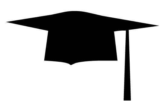 Graduation Cap Silhouette Clip Art.