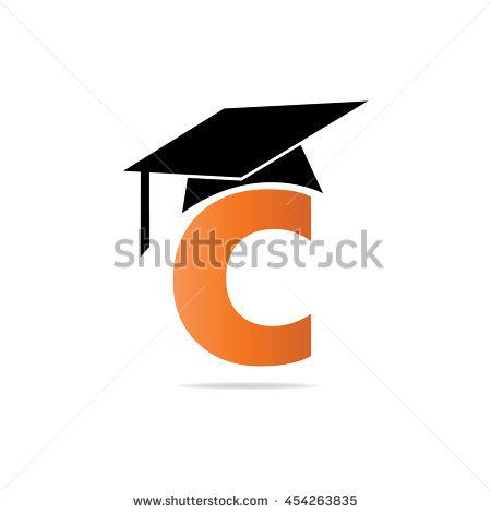 Letter Graduation Cap Logo Vector Stock Vector 338652323.