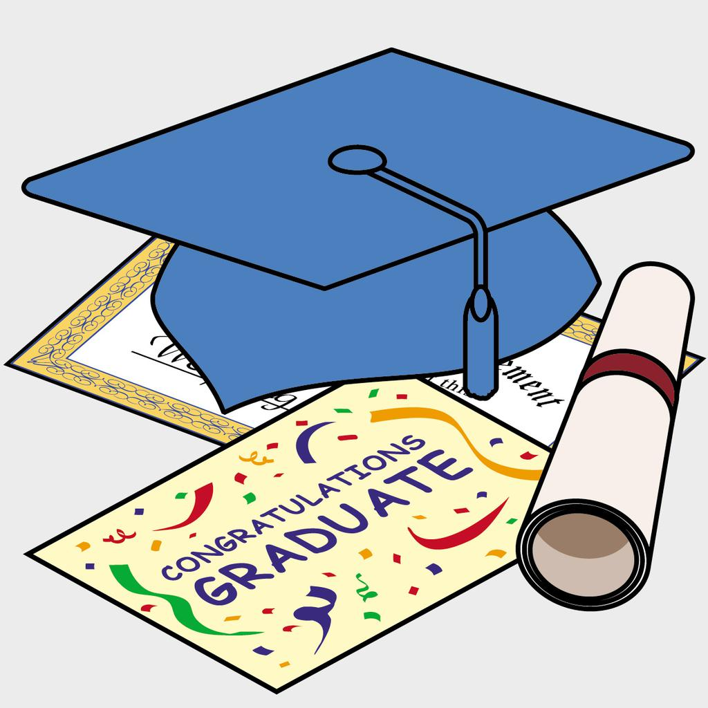 Graduation Cap And Diploma Clipart Qtbakgnyc.