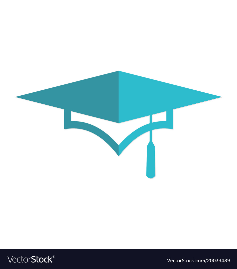 Graduation hat university logo.