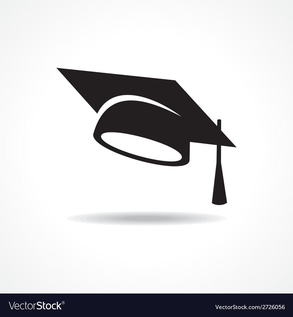 Graduation cap symbol.