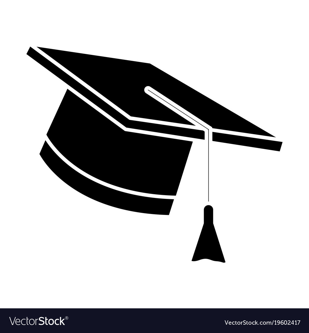 Graduation hat cap.