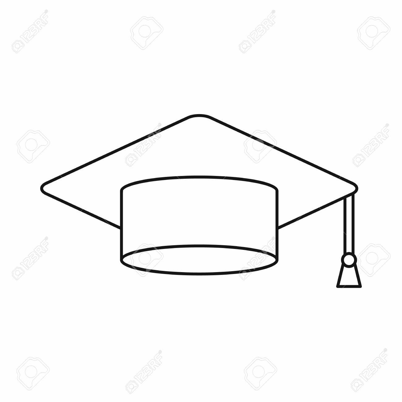 Graduation Cap Outline Free Download Clip Art.