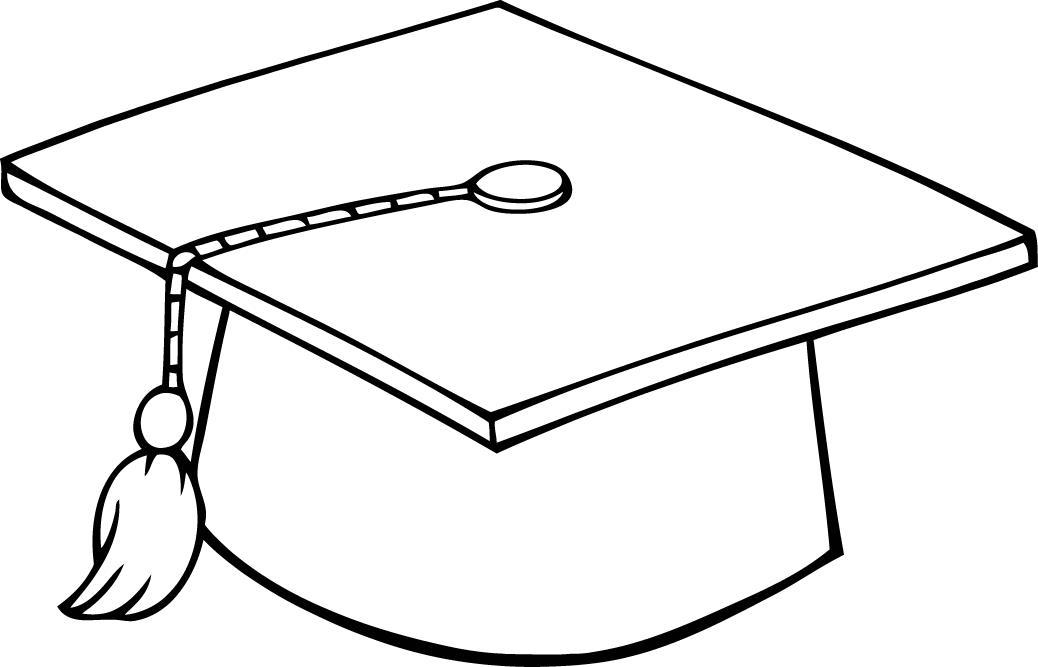 Graduation Hat Outline.