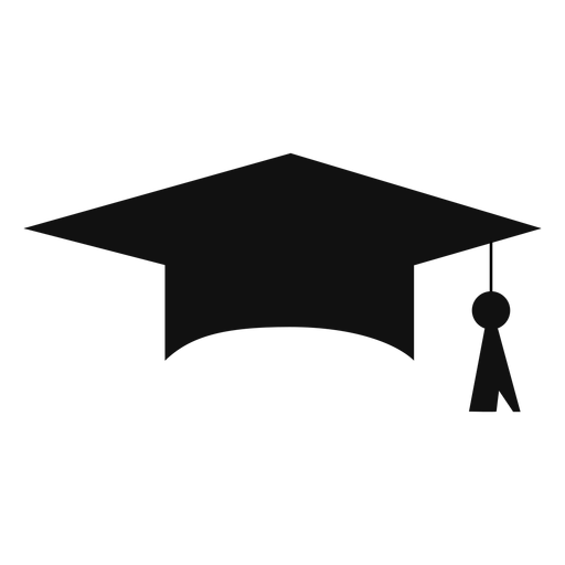 Graduation cap silhouette.