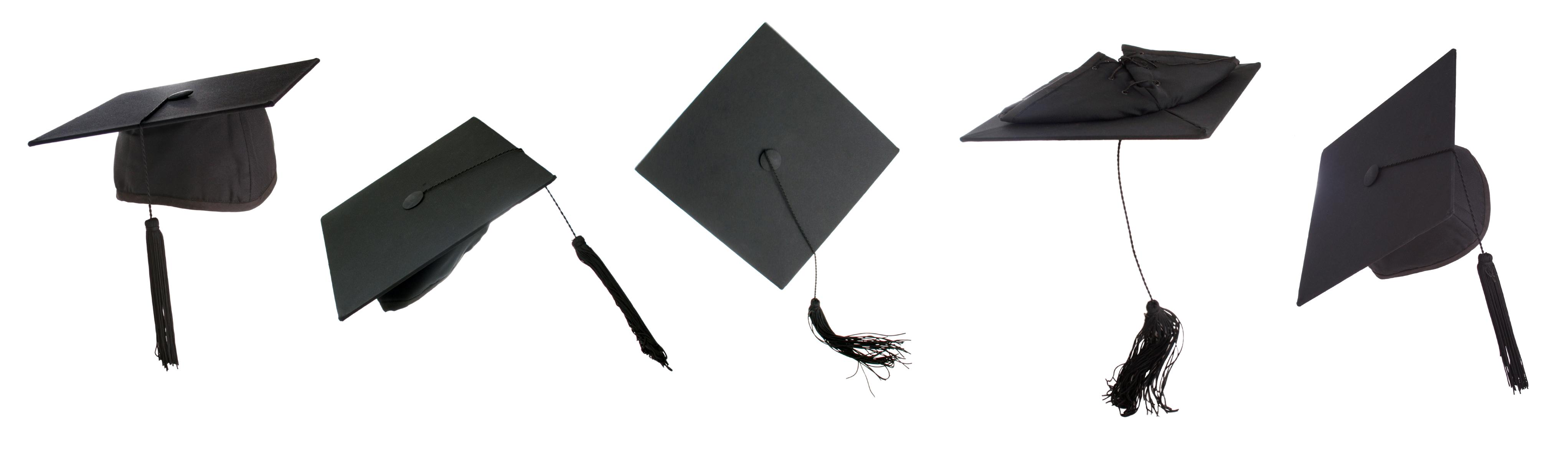 71 Graduation Caps free clipart.