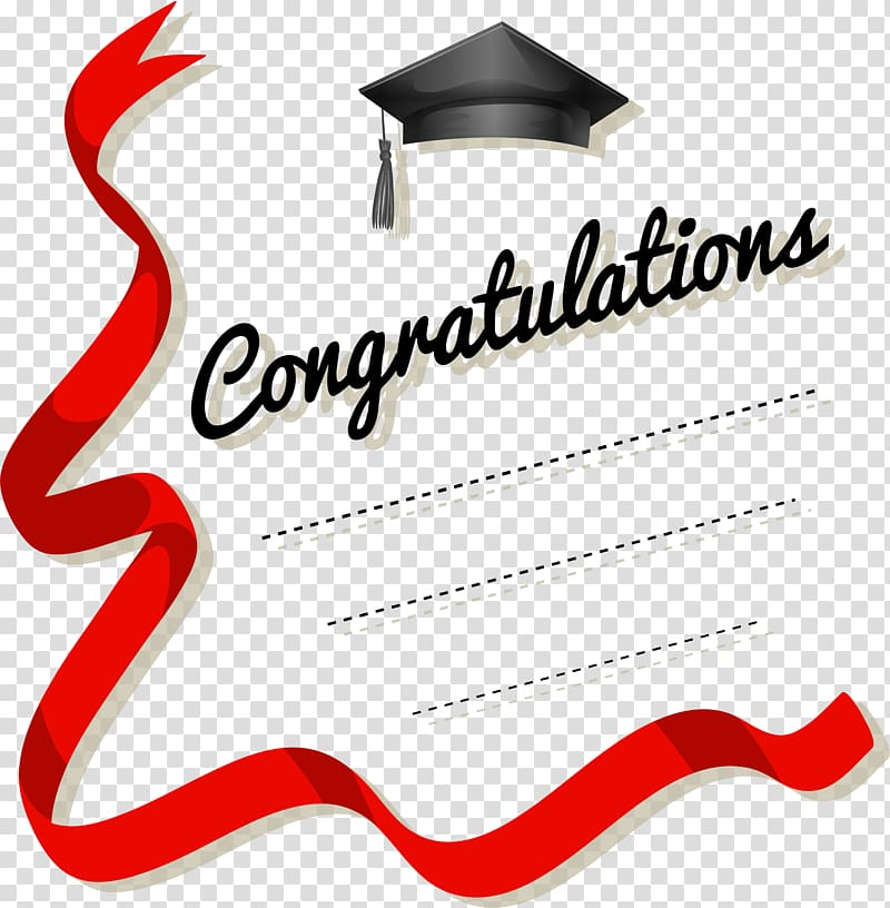 Congratulations template, Greeting card , Red ribbon.