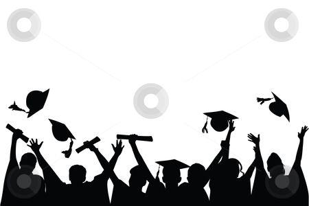 Graduation Celebration stock vector clipart, Vector.