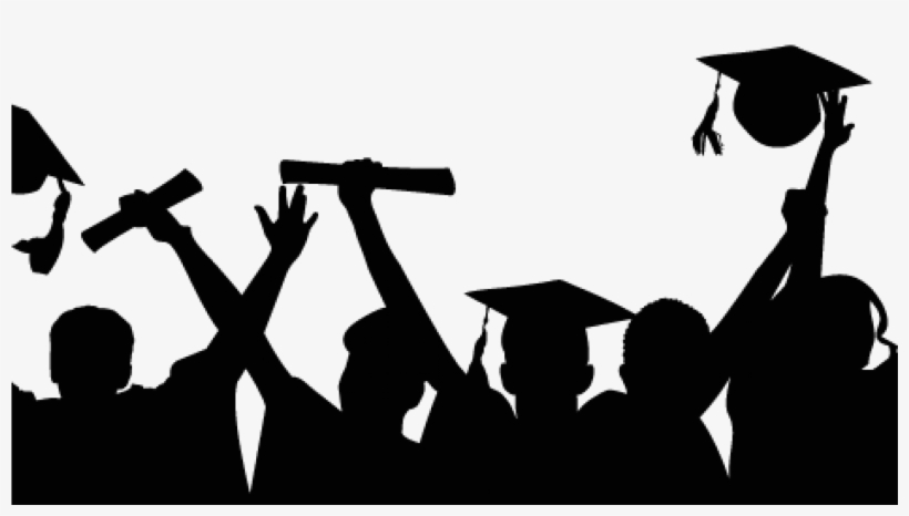 Cropped Graduation Celebration Silhouette.