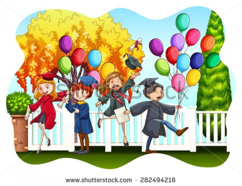 graduation ceremony stock vectors amp vector clip art shutterstock.