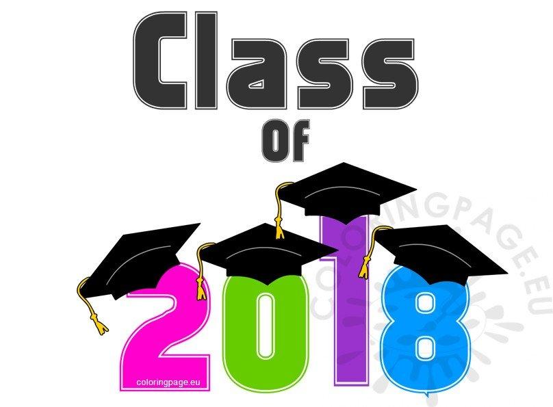 Multicolor Graduation Class of 2018.