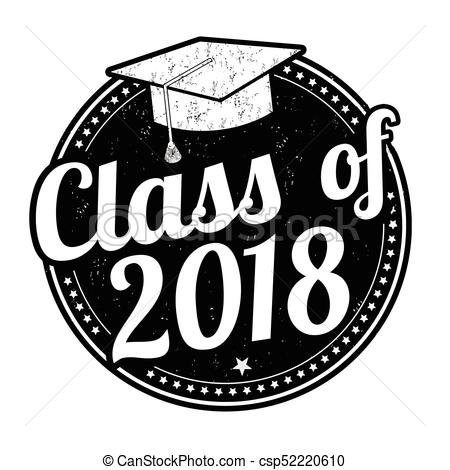 Class of 2018 stamp.