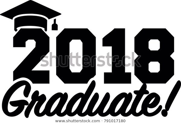 2018 Graduate Black Mortarboard Stock Vector (Royalty Free) 791017180.