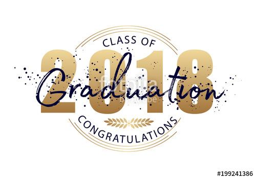 Graduation label. Vector text for graduation design, congratulation.