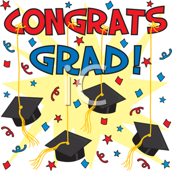 Royalty Free Clipart Image of a Graduation Background.