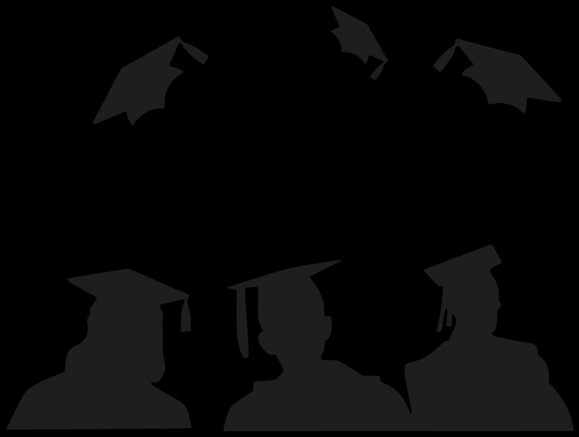 Graduation clip art black and white free.