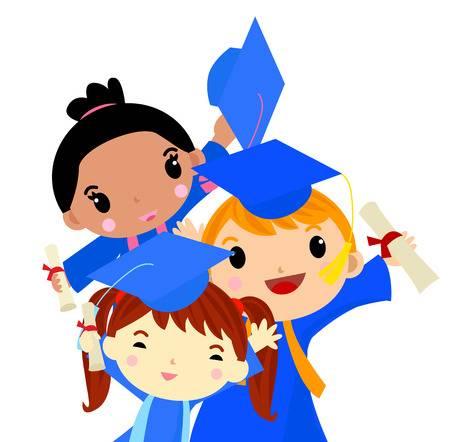 2,028 Kindergarten Graduation Stock Vector Illustration And Royalty.