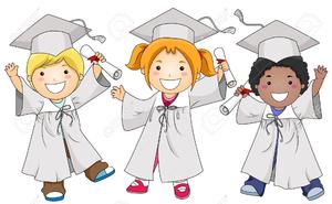 Kindergarten Graduates Clipart.