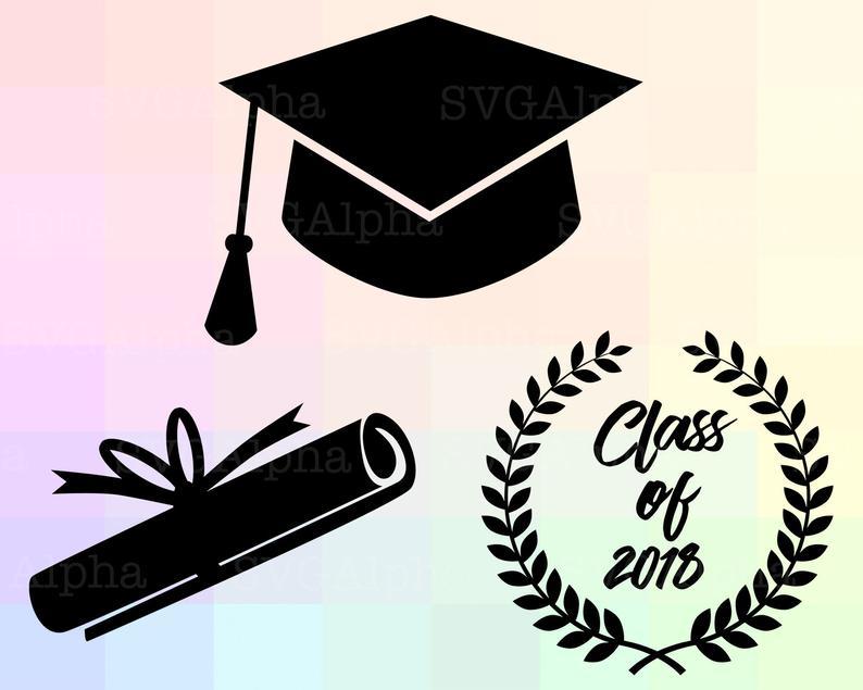 Graduation SVG, Class of 2018 SVG, Graduation Clipart, Graduation Cricut,  Graduation Silhouette, Graduation Dxf, University Dxf, 2018 Class.