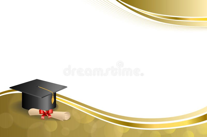 Photo about Background abstract beige education graduation cap.