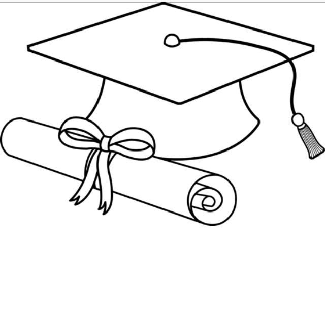 Graduation Cap Clipart Black And White.