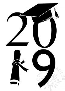 Graduation Class of 2019 vector illustration.