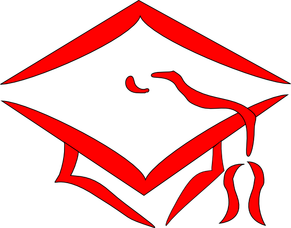 Red Graduation Cap Clip Art at Clker.com.