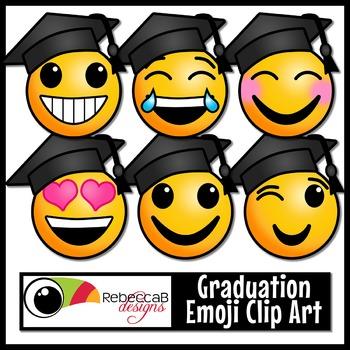 Graduation Emoji Clip Art.