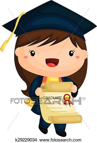 Graduation Girl Clipart.