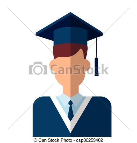 Graduate Student Icon Graduation Gown.