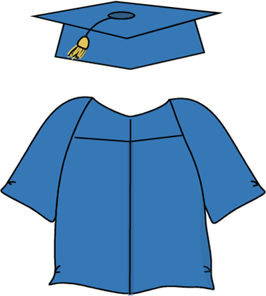 Graduation Cap and Gown Clip Art.