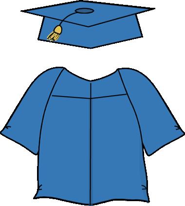 Graduation Cap and Gown Clip Art.