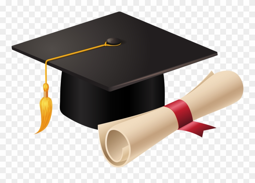 Graduation Cap And Diploma Png Clipart (#221974).