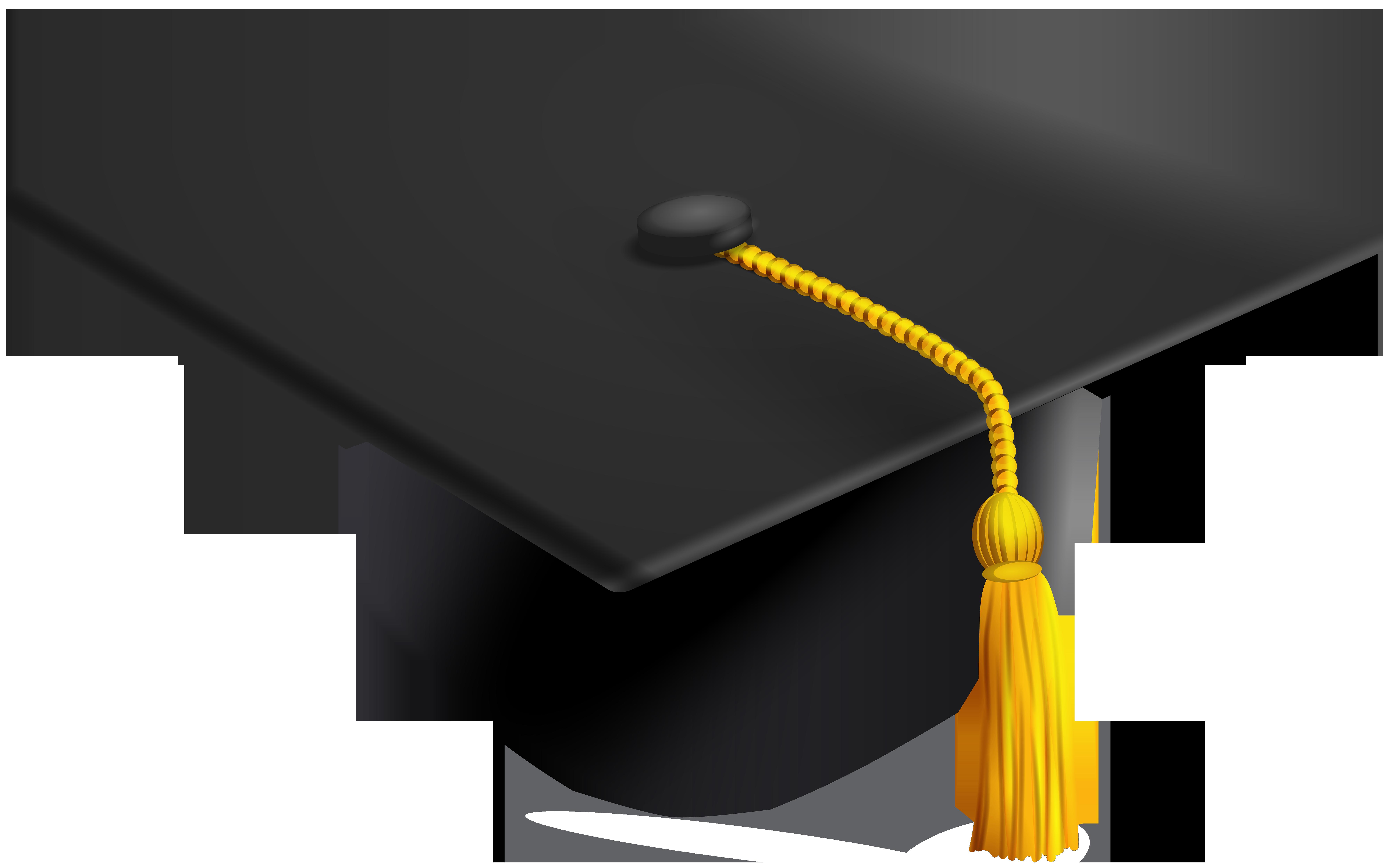 Graduation Hat Transparent Clip Art Image.