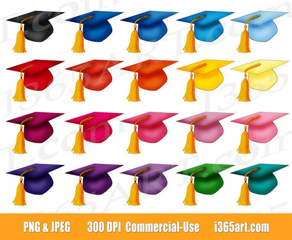 50% OFF Graduation Caps Clipart, Graduation Hats Clip art, Graduation  Party, University Clipart, College, icons, PNG, Commercial.