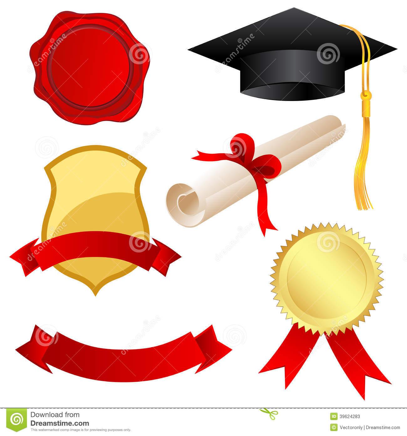 Graduation Icons Clipart.