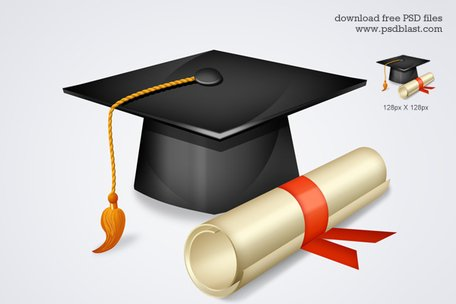 Free High School Graduation Icon Clipart Picture.