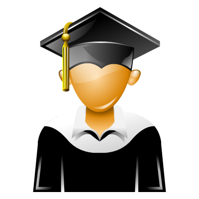 Graduation Icon, PNG ClipArt Image.