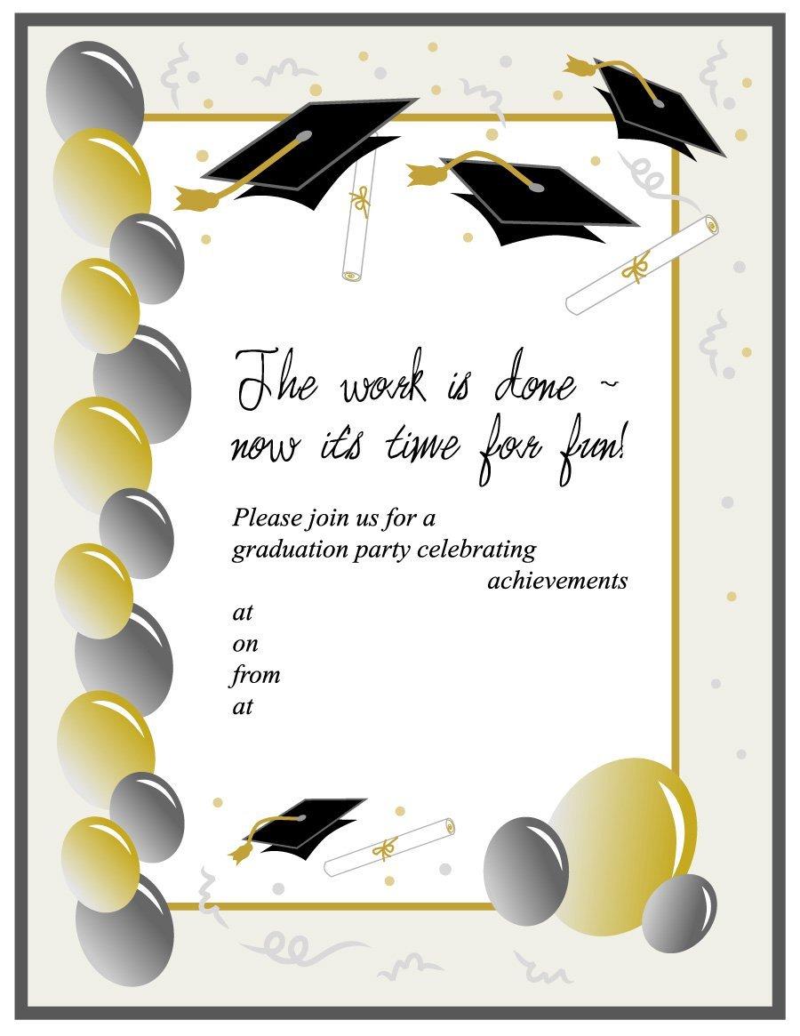 Free graduation announcements templates clipart images.