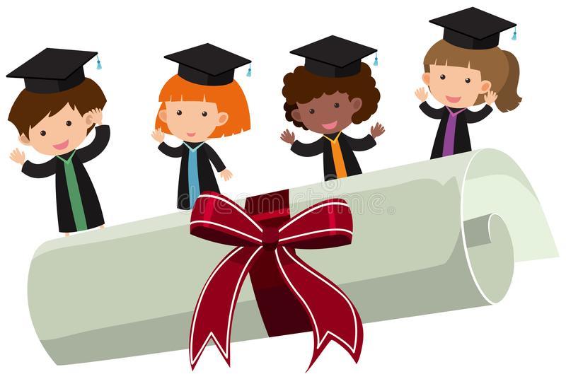 Kids Graduation Clipart Stock Illustrations.