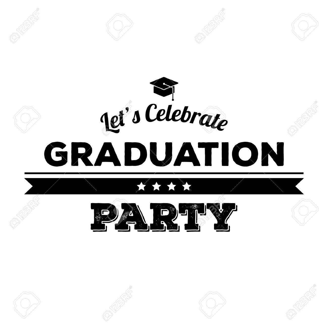 Graduation party label.
