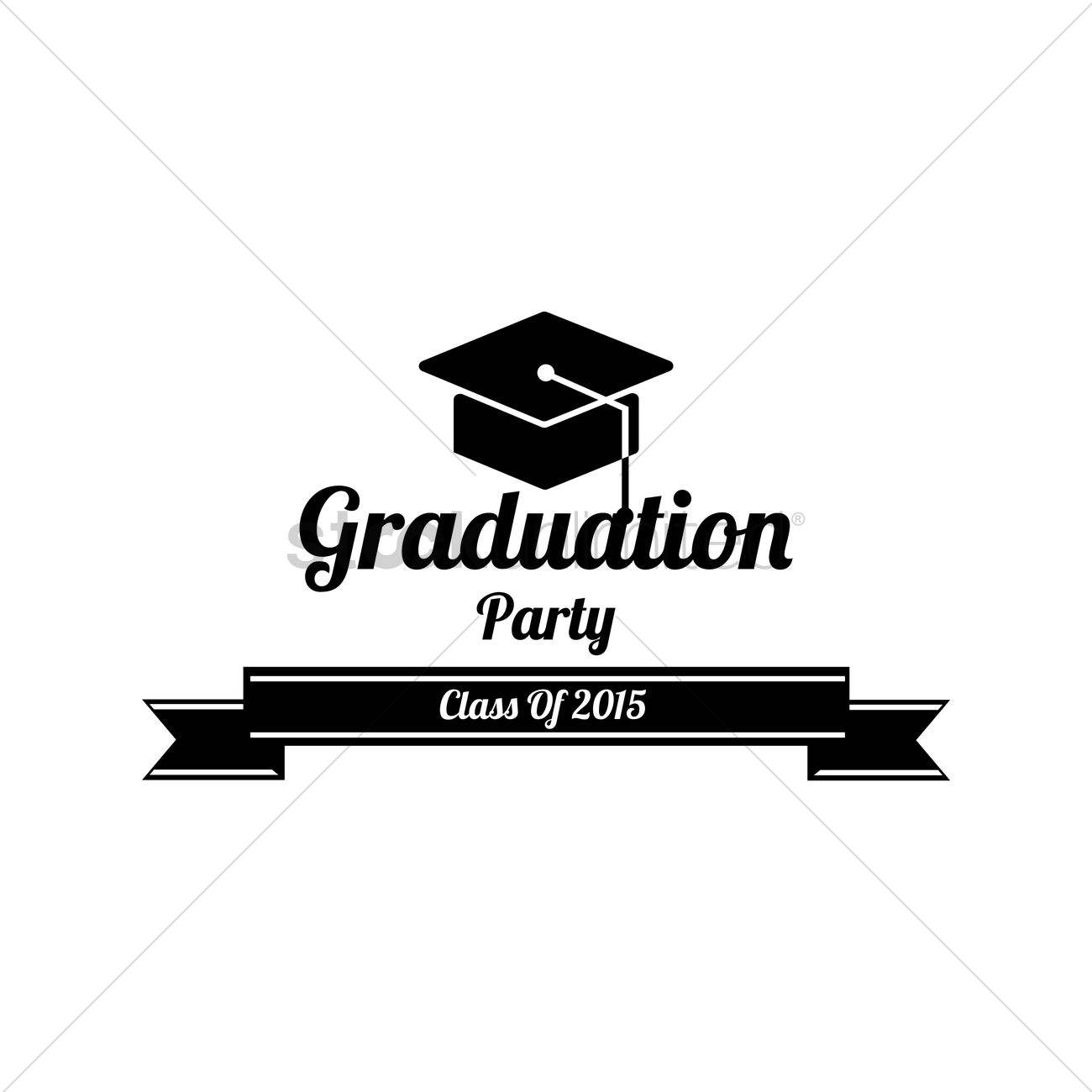 Graduation party label Vector Image.