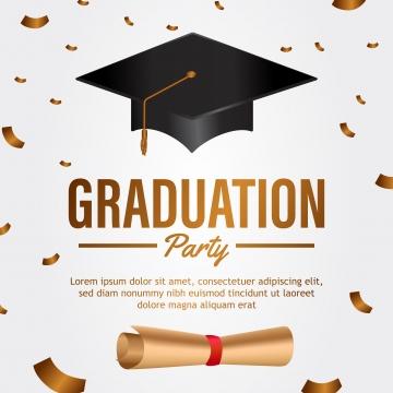 Graduation Party PNG Images.